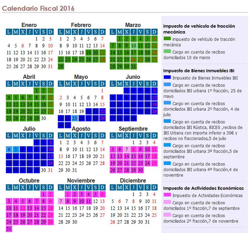 Calendario Fiscal.Excmo Ayuntamiento De Navalvillar De Pela Calendario Fiscal De