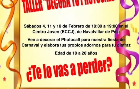 2017-01-25-TALLER DECORA TU PHOTOCALL-CARTEL