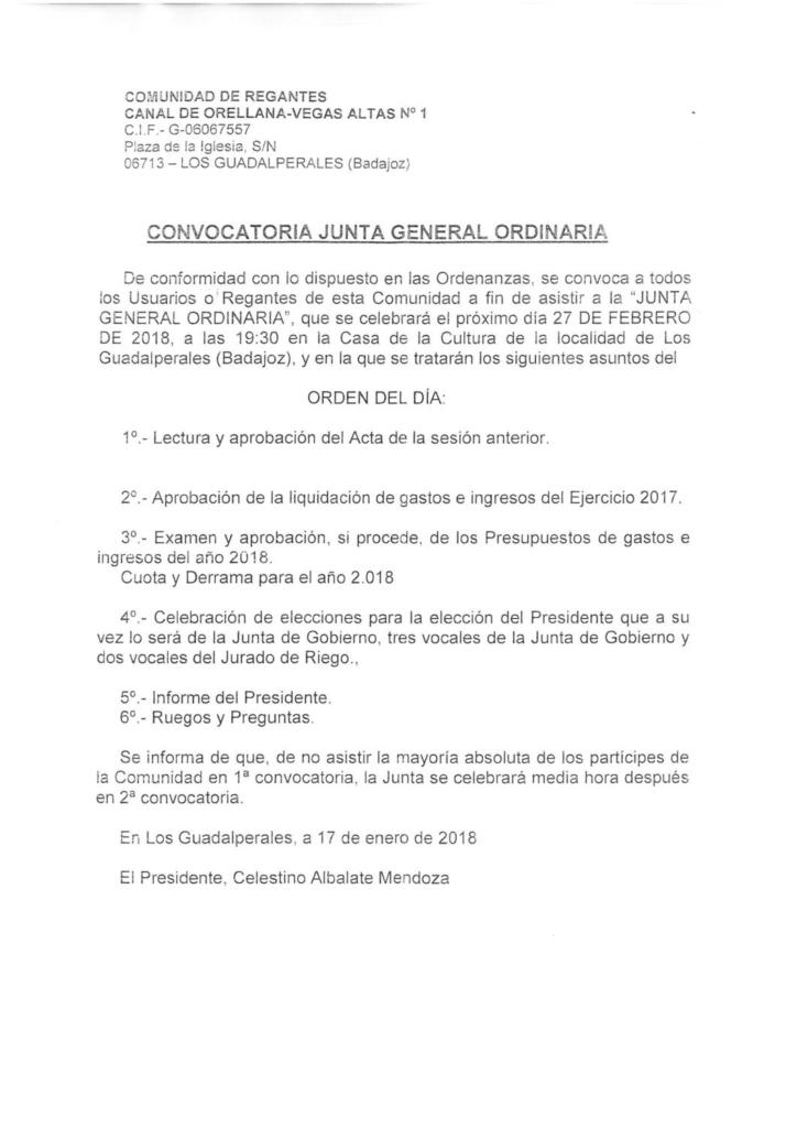 180123-ANUNCIO COMUNIDAD REGANTES ORELLANA-V ALTAS 1