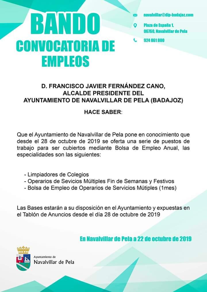 BANDO EMPLEO PUBLICO BOLSA OSM 2020